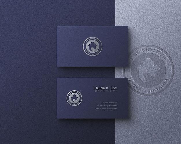 Luxe visitekaartje logo mockup