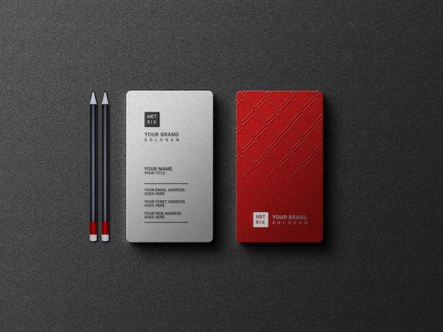 Luxe visitekaartje met logo mockup