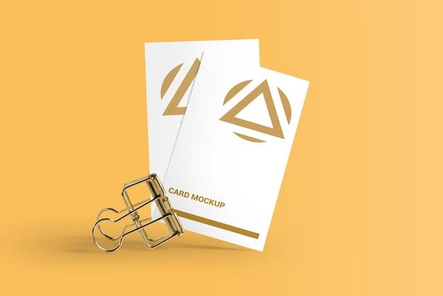 Luxe visitekaartje mockup ontwerp