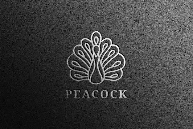 Luxe zilveren logo-inscriptie Premium Psd