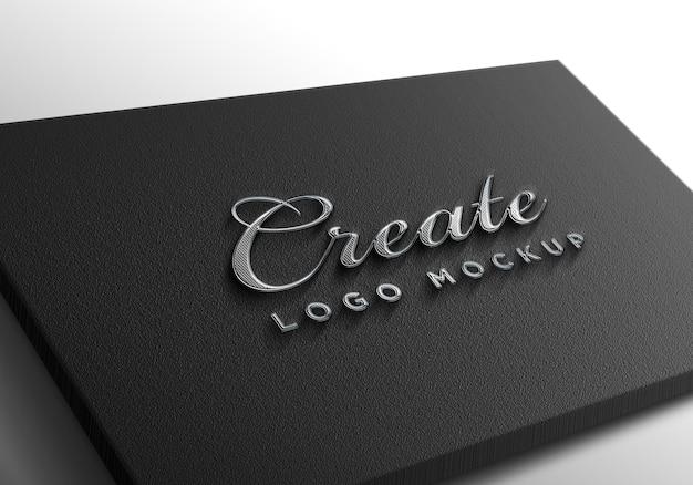 Luxe zilveren logo-mockup