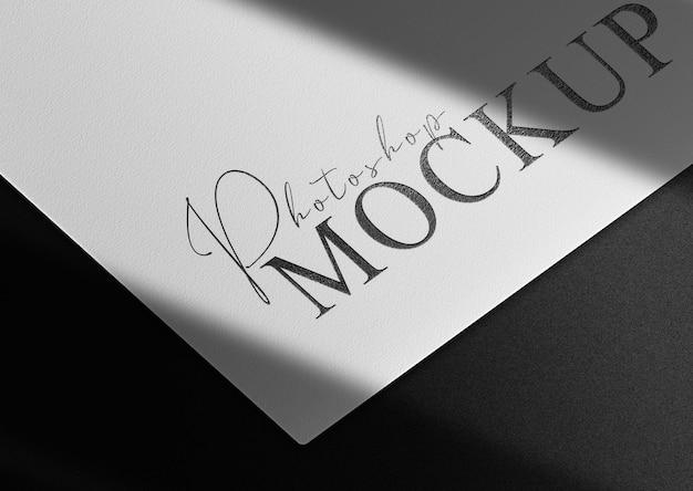 Luxe zwart reliëfpapier mockup Premium Psd