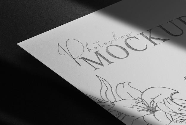 Luxe zwart reliëfpapier mockup
