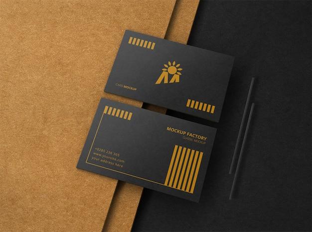 Luxe zwart visitekaartje mockup