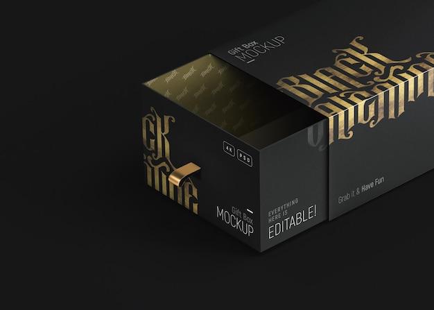 Luxe zwarte en gouden geschenkverpakking