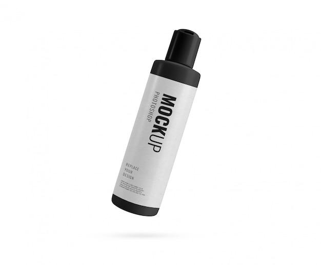 Luxe zwarte fles flip deksel fles rendering Premium Psd