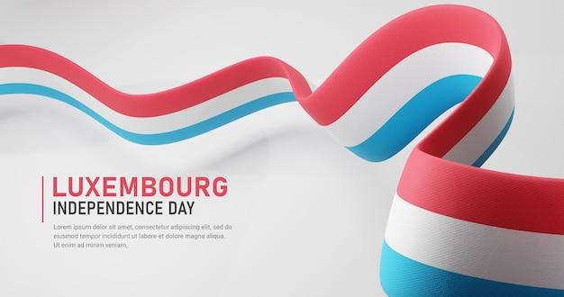 Luxemburg onafhankelijkheidsdag zwaaien lint vlag banner sjabloon