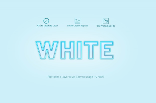 Luz azul estilo photoshop layer