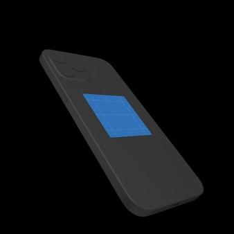 Maak donkere telefoonmodel schoon