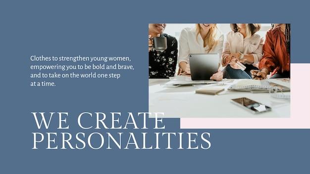 Maak een mode-stijlsjabloon psd voor kleine bedrijven