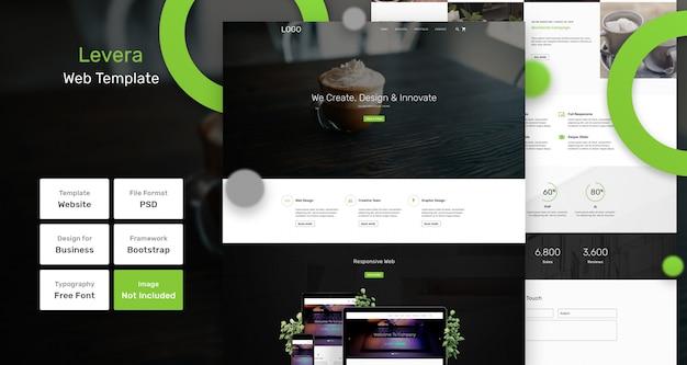 Maak gebruik van een websjabloon voor bedrijven en bureaus