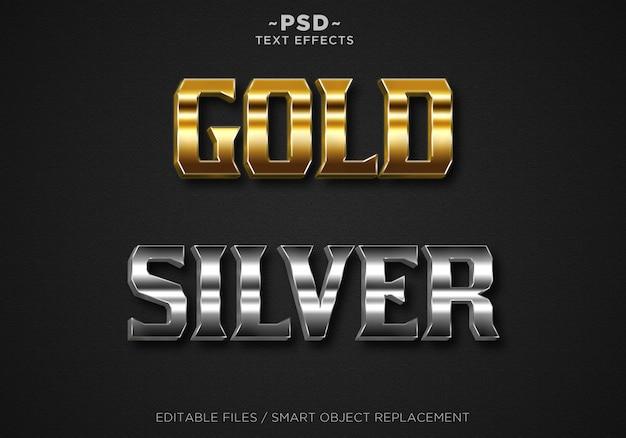 Maak goud en zilver bewerkbaar teksteffect
