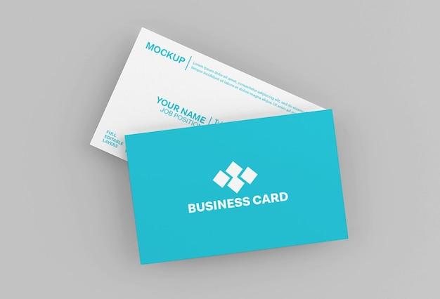 Maak minimaal mockup voor papieren visitekaartjes schoon