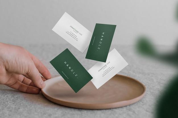 Maak minimale mockup voor visitekaartjes schoon