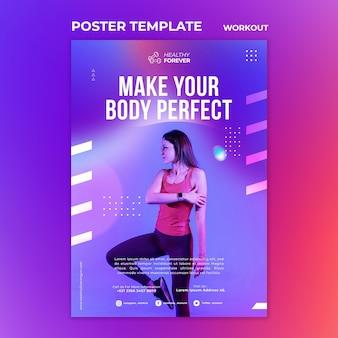 Maak van je lichaam de perfecte postersjabloon
