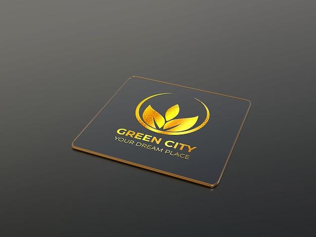 Maaltijd vierkant bsiness card logo mockup