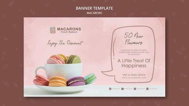 Macarons concept sjabloon voor spandoek