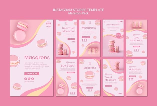 Macarons pakken instagram-verhalen in
