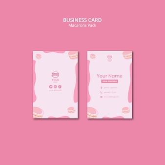 Macarons pakken visitekaartjes in
