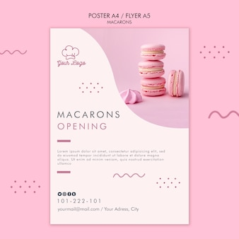 Macarons poster sjabloon concept