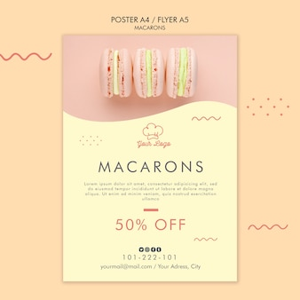 Macarons poster sjabloonontwerp
