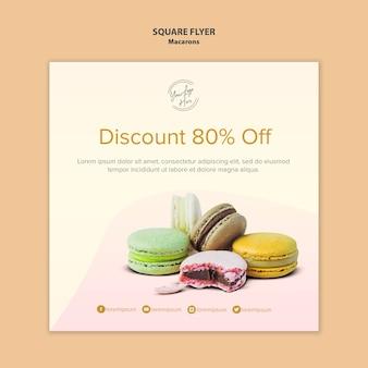 Macarons-verkoop met 80% korting