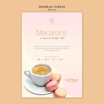 Macarons verkoop posterontwerp