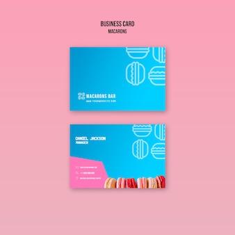 Macarons visitekaartje sjabloon concept