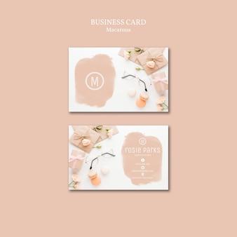 Macarons visitekaartje sjabloonthema