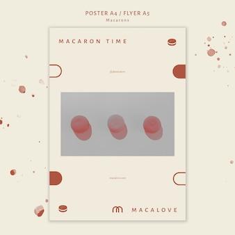 Macarons winkel sjabloon flyer