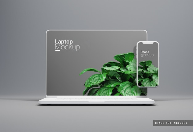 Macbook pro clay mockup vooraanzicht