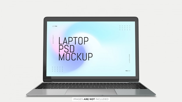 Macbook pro front view psd mockup