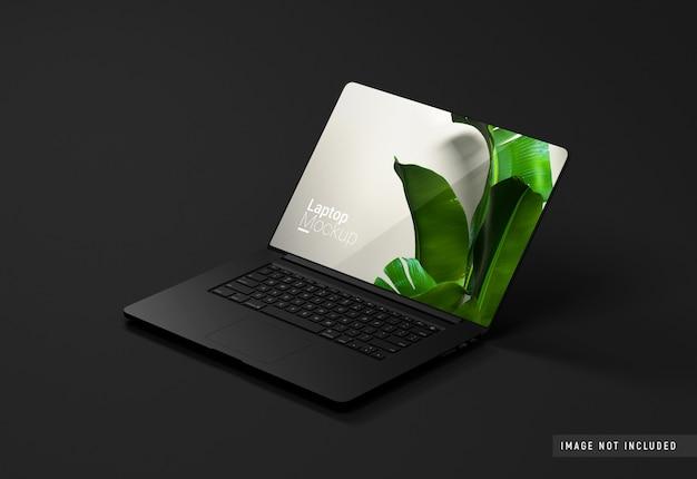 Macbook pro zwarte klei mockup