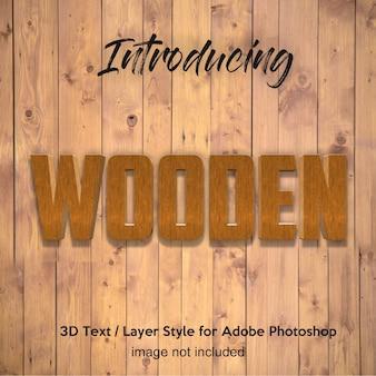 Madera 3d tablón de madera efectos texturados de texto de estilo de capa de photoshop