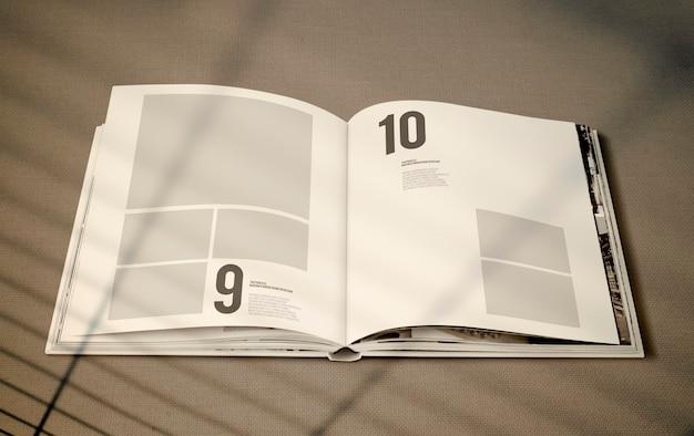 Magazine mockup met een lege ruimte