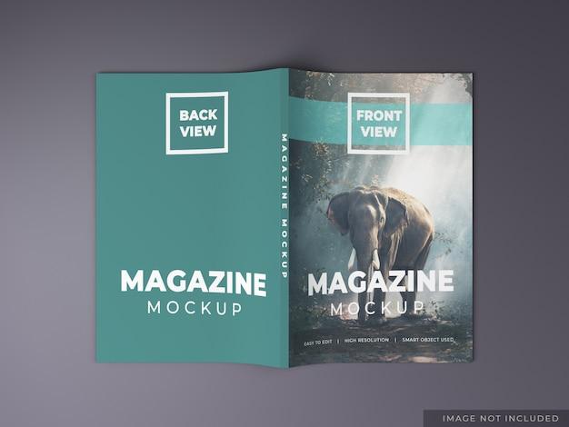 Magazine mockup sjabloonontwerp