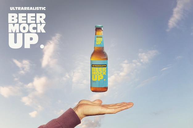 Magic beer mockup