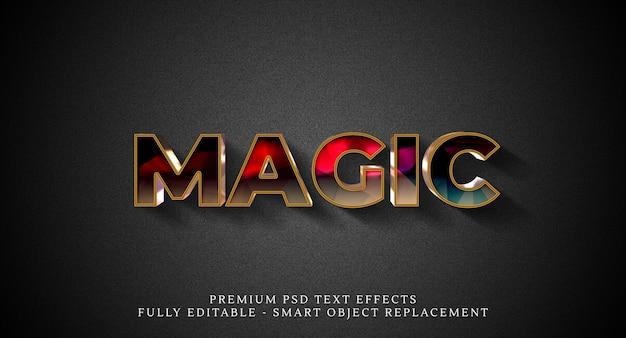 Magisch tekststijleffect psd