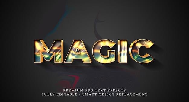 Magische tekststijl effect sjabloon