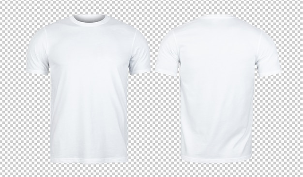 Magliette bianche mockup davanti e dietro