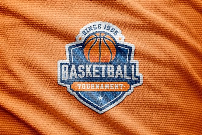 maillot deportivo con logo y maqueta