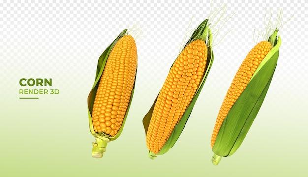 Maïs 3d render realistisch