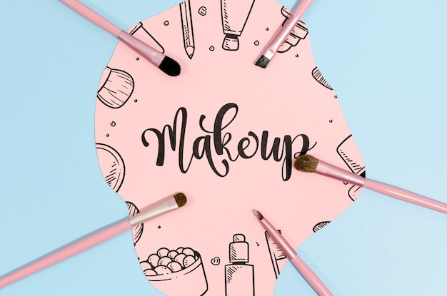 Make-up achtergrond met letters