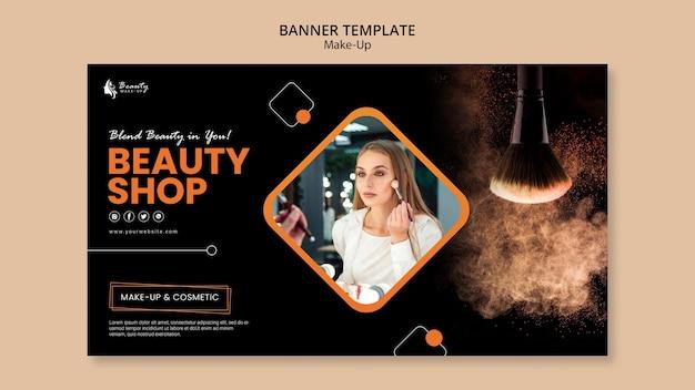 Make-up concept banner sjabloonstijl