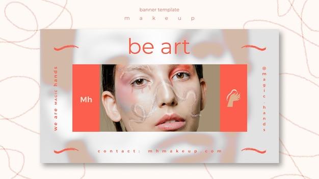 Make-up concept sjabloon voor spandoek
