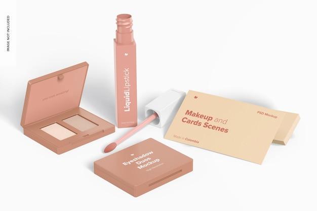 Make-up en kaartscènes mockup