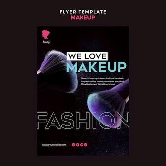 Make-up flyer sjabloonontwerp