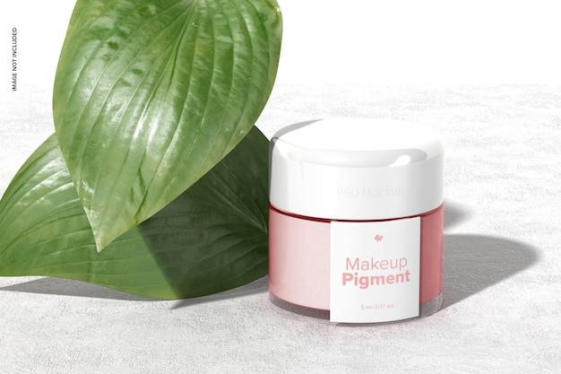 Make-up pigment mockup