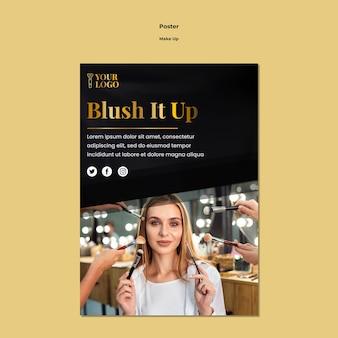 Make-up poster sjabloonontwerp