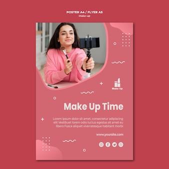 Make-up producten flyer sjabloon